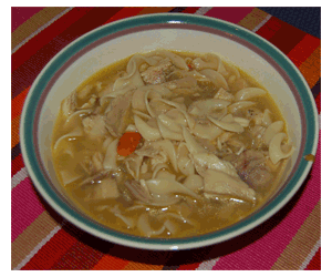 Old bay Chicken Soup Serving