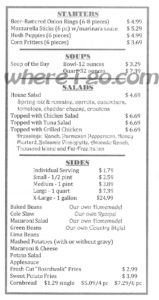 Watsons Carry Out Menu, Jefferson, Md -  Page 2