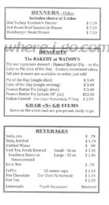 Watsons Carry Out Menu, Jefferson, Md -  Page 4