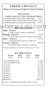 Watsons Carry Out Menu, Jefferson, Md -  Page 5